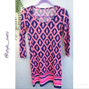 Lilly Pulitzer 3/4 Sleeve Fish Dress